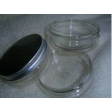 PET Clear 50ml Jar with Aluminium Lid x 1