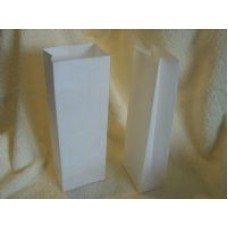 White Block Bottom Bags Large x 10