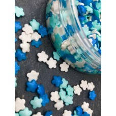 Sugar Glimmer Flowers Blue, Pale Blue & White 25g