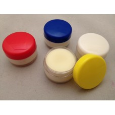 6ml Lip Balm Pots Blue lid x 10