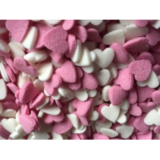 Pink & White Hearts 25g