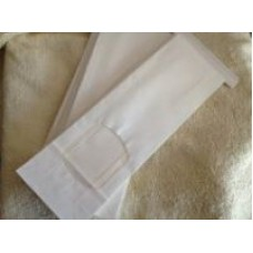 Tin Tie Window Bag White x 10
